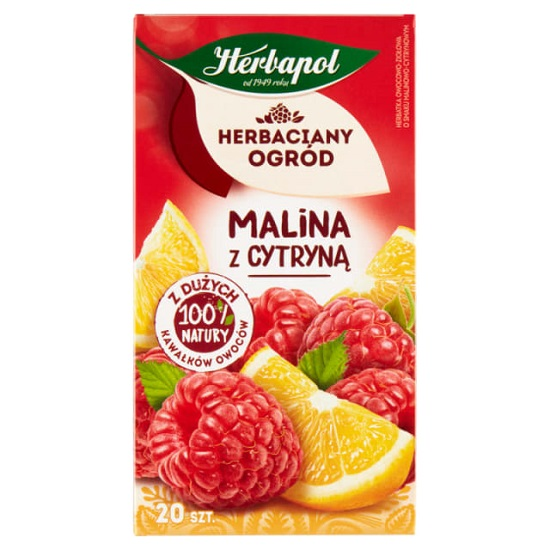 HERBACIANY OGRÓD MALINA Z CYTRYNĄ - HERBAPOL 40g