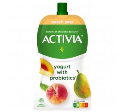 JOGURT PROBIOTYK GRUSZKA - BRZOSKWINIA (TUBKA) - ACTIVIA 130 g