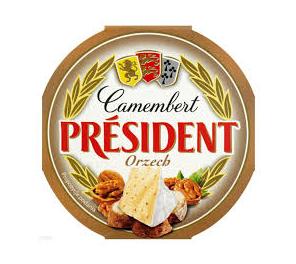 SER CAMEMBERT ORZECH - PRESIDENT 120g