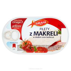FILETY Z MAKRELI W SOSIE POMIDOROWYM GRAAL 170g