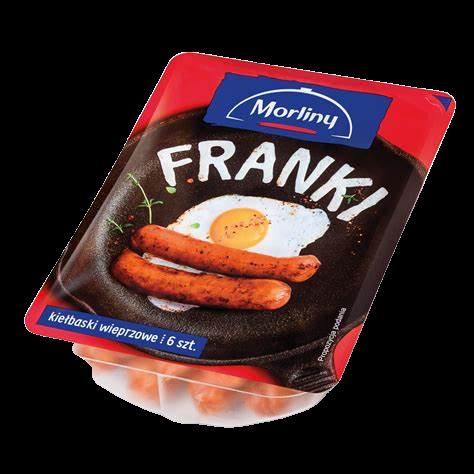 KIEŁBASKI WIEPRZOWE FRANKI - MORLINY 240 g