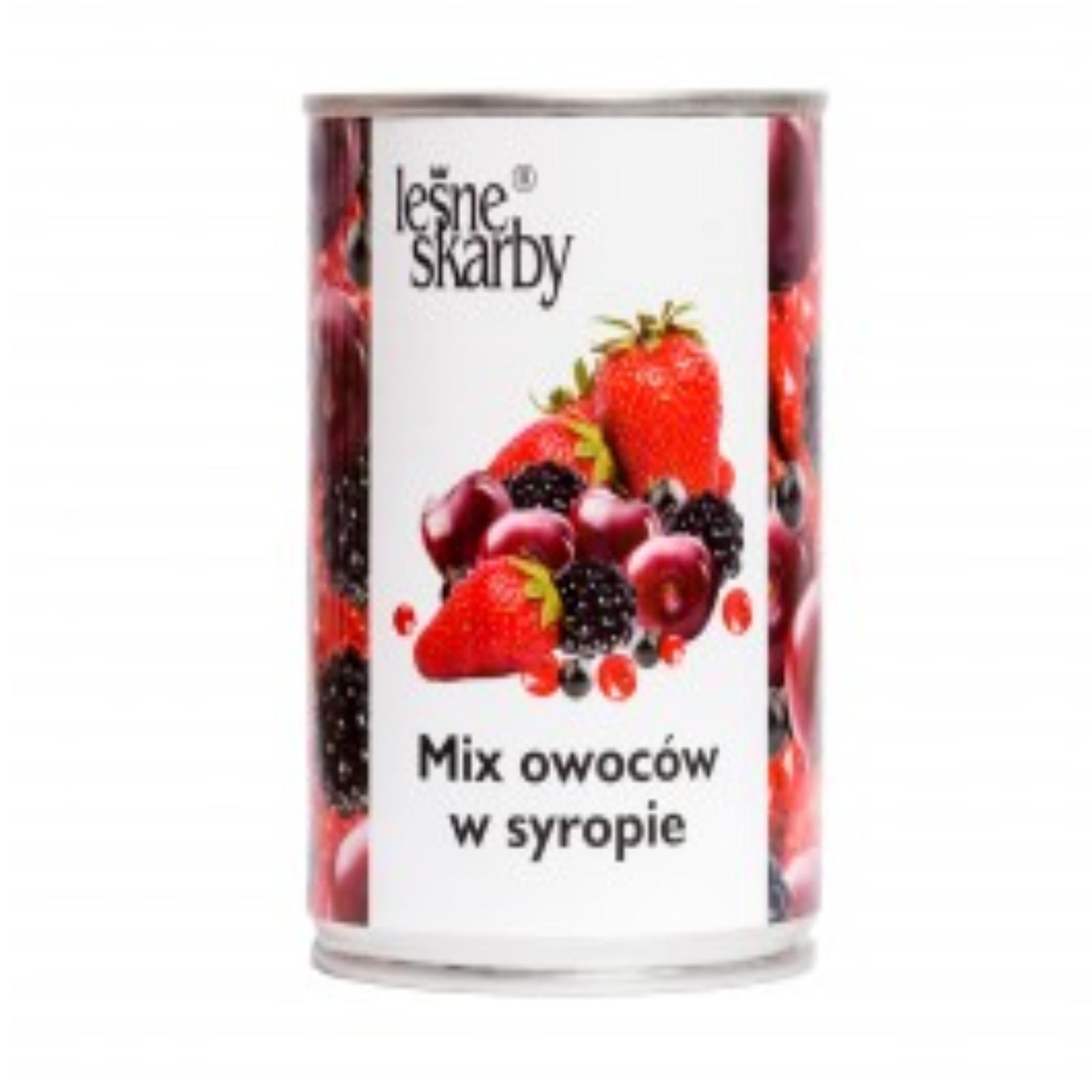 LEŚNE SKARBY - MIX OWOCÓW W SYROPIE 400g