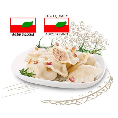 PIEROGI Z CIELĘCINĄ - BACÓWKA +-400g
